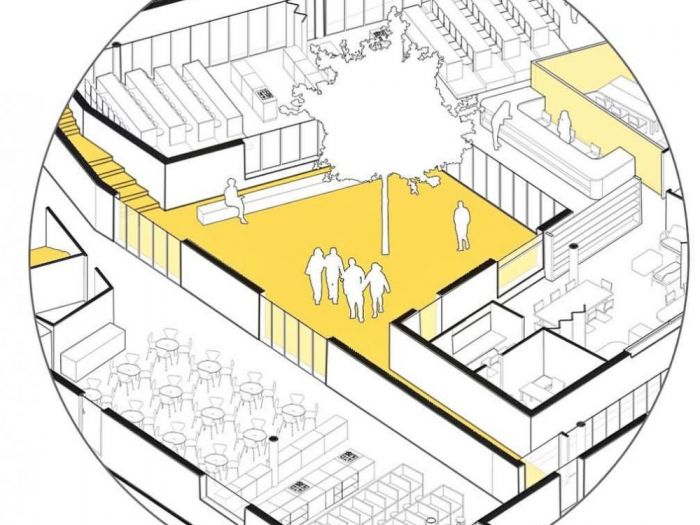 Archisio - Mario Imperato - Progetto A project detail of the entry of secondary school