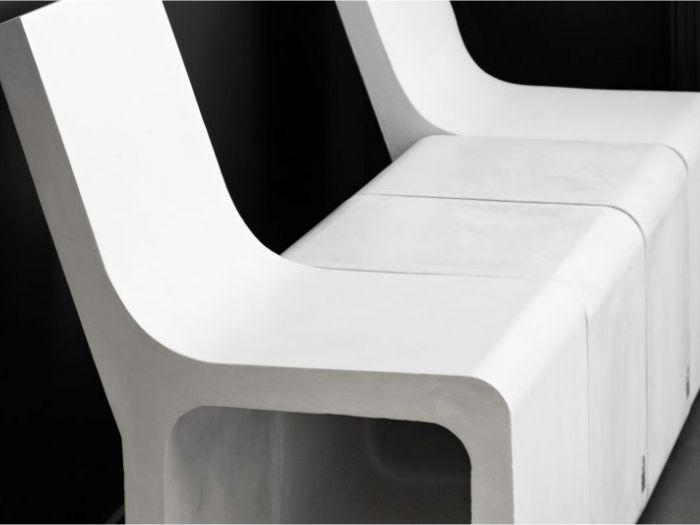 Archisio - D Materials - Progetto Harmony stool with backseat