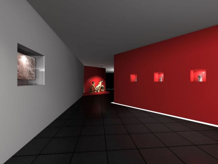 Archisio - Javier Reyes Batista - Progetto Marte museumHall allestimento temporaneo