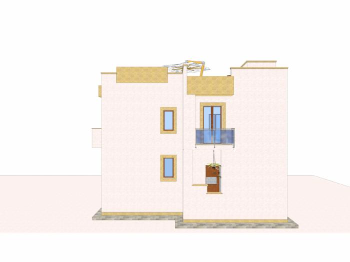 Civile abitazione a piano rialzato e piano primo con ...