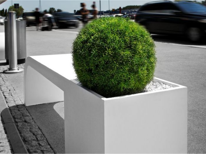 Archisio - D Materials - Progetto Harmony bench-planter
