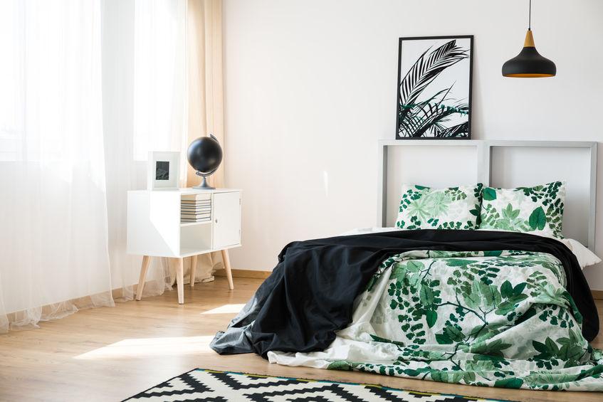 Testiera letto con cornice in legno