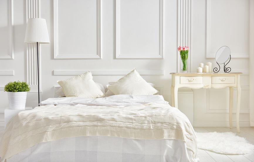 Testiera letto bianca