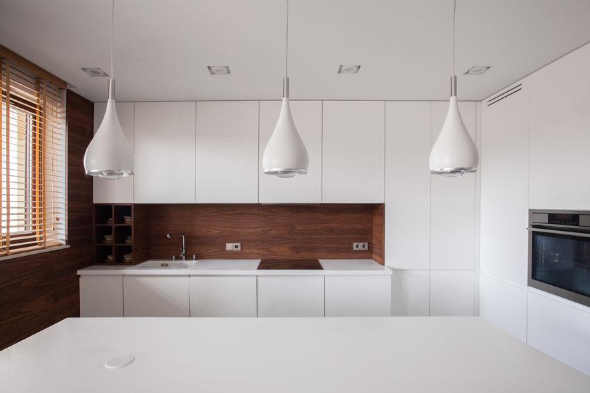 Pareti in legno in cucina minimal