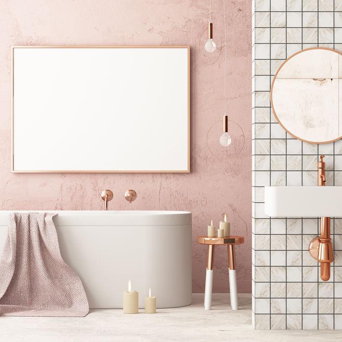 Arredare bagno in rosa