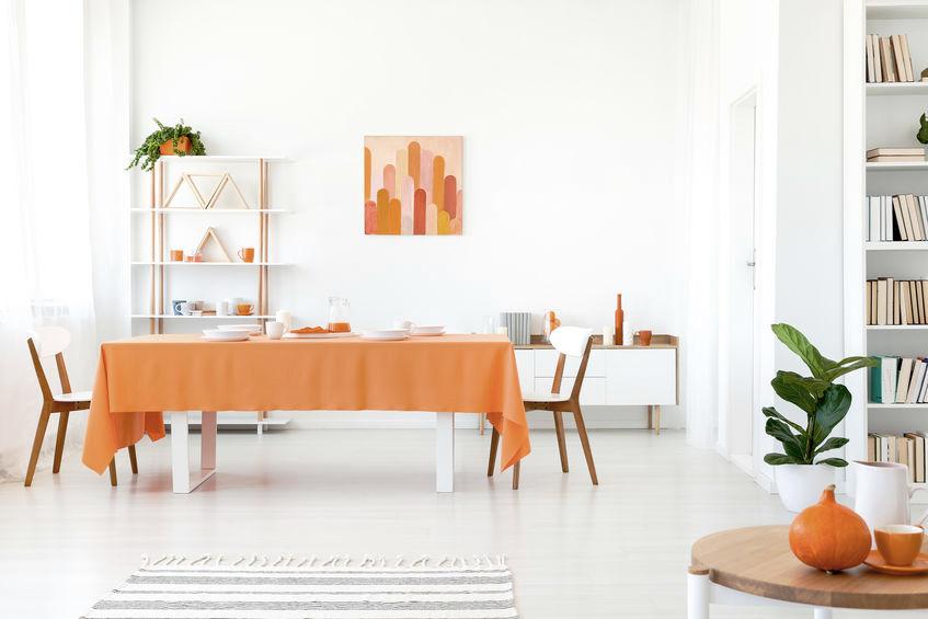 Arancione pastello per arredare