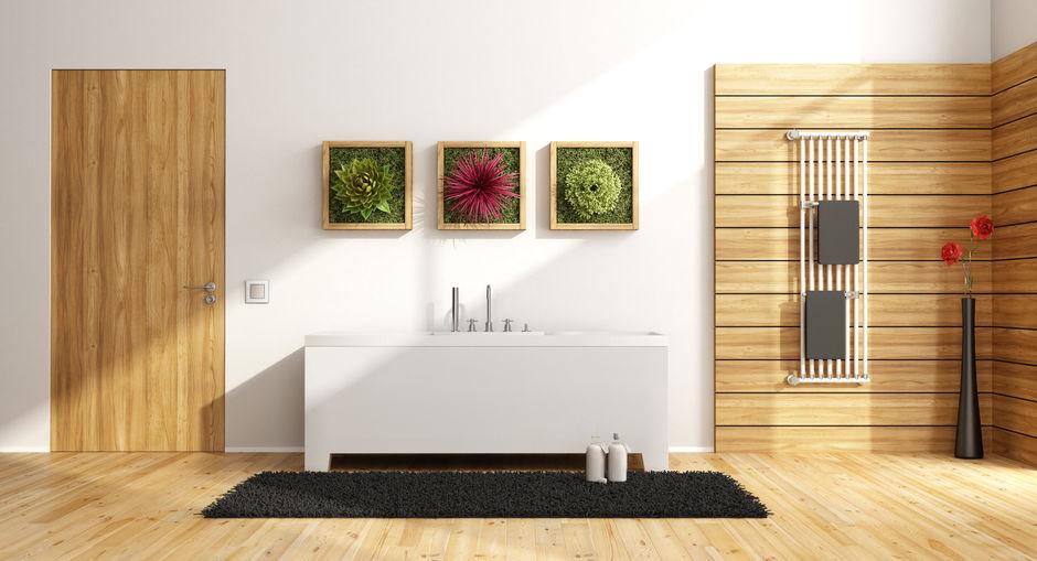 porta raso muro legno