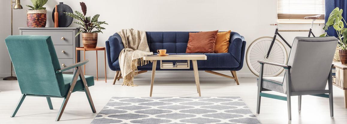poltrone e divano vintage