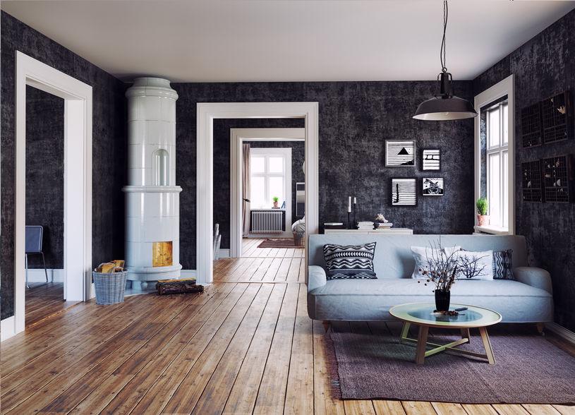 pavimento in legno stile scandinavo