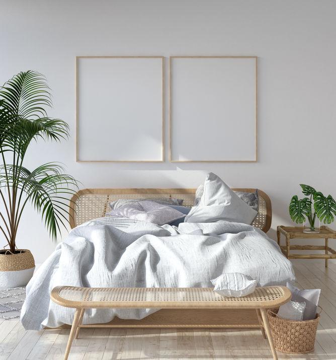 camera da letto scandinava pareti