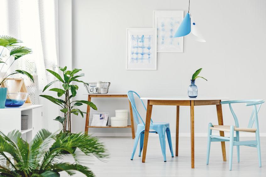 sedie azzurre