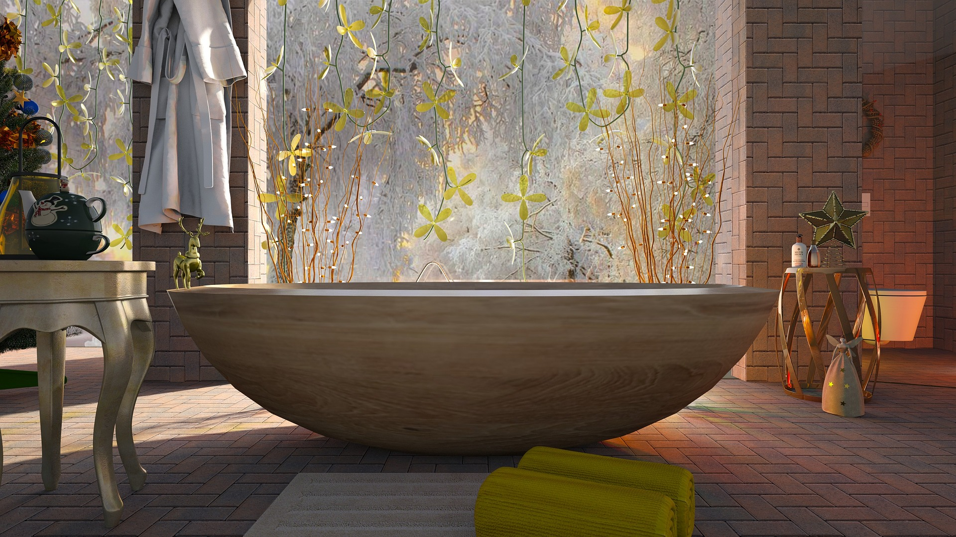 Vasca da bagno in legno: relax e benessere