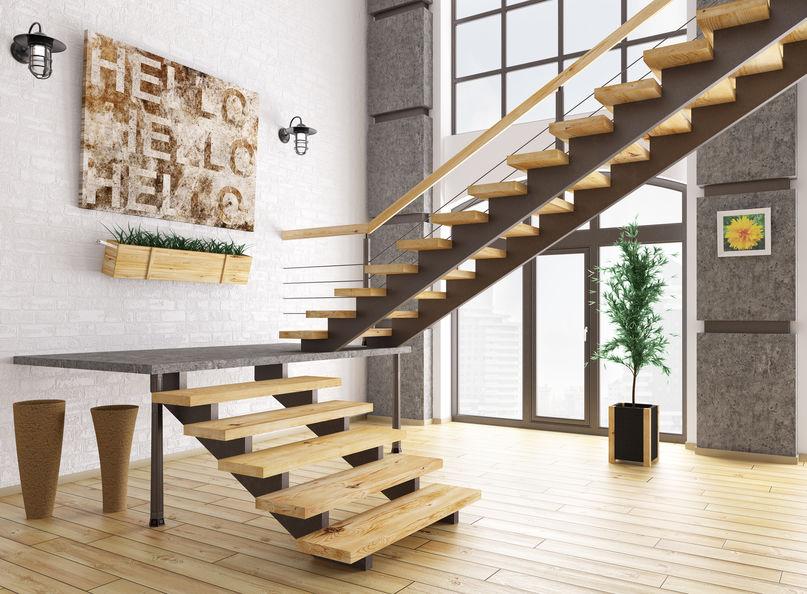 scale moderne in legno