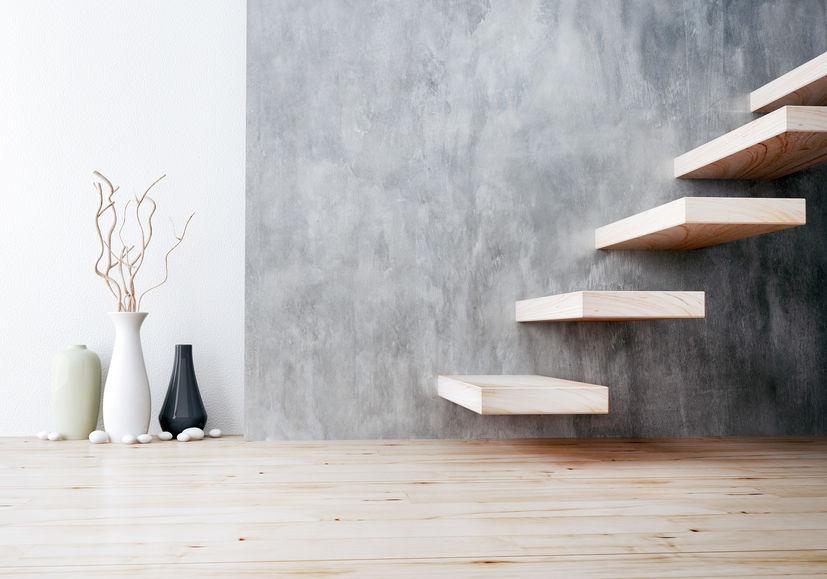 scale con gradini a sbalzo