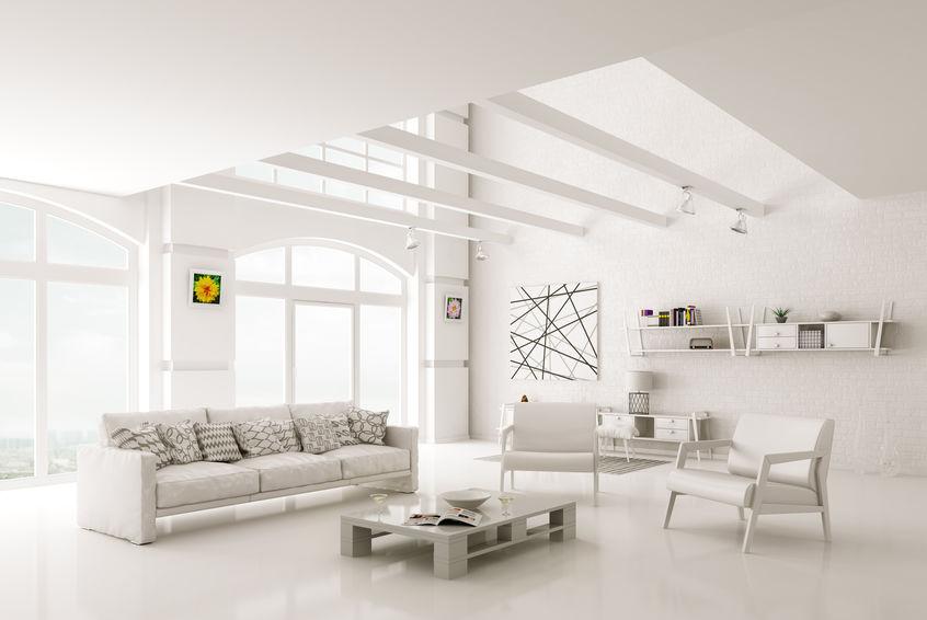 Total white per un soggiorno etereo