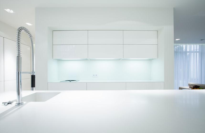 Cucina in bianco moderna
