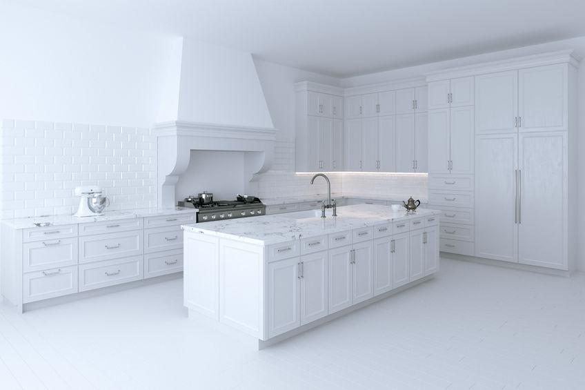 Cucina in bianco tradizionale