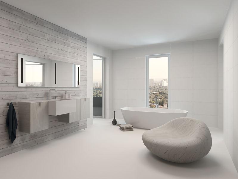 Bagno in bianco: candore e lucentezza