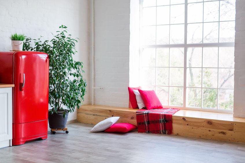 frigorifero rosso vintage