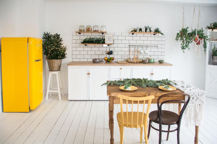 frigorifero giallo