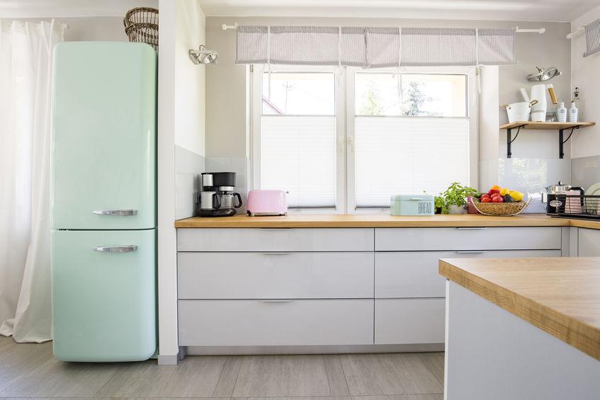 frigorifero verde menta
