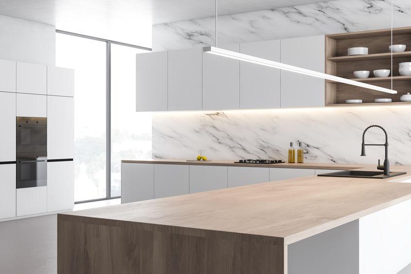 marmo di Carrara in cucina