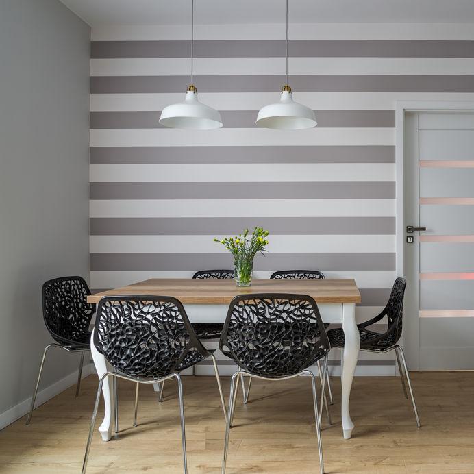 parete con righe orizzontali