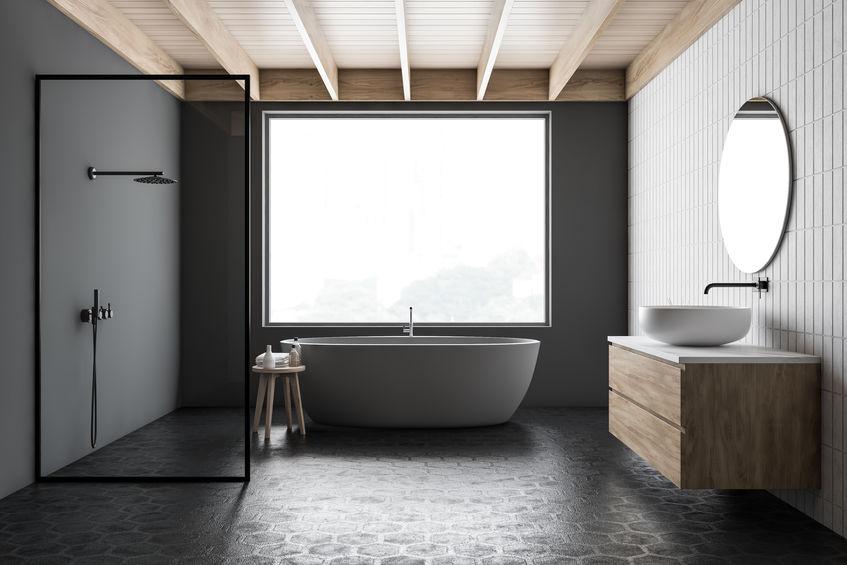 piastrelle esagonali bagno