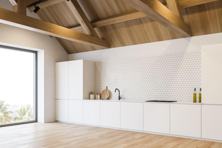 cucina bianca minimalista