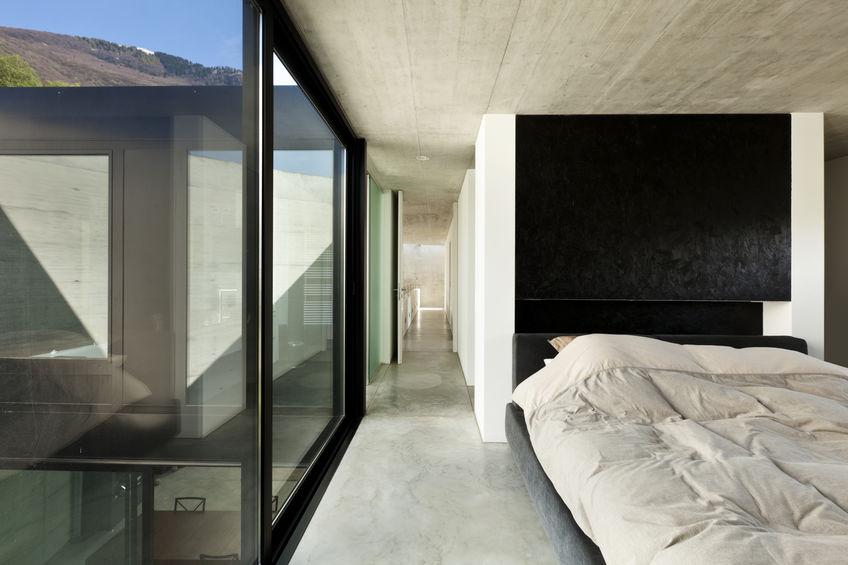 Camera da letto minimal ma di stile