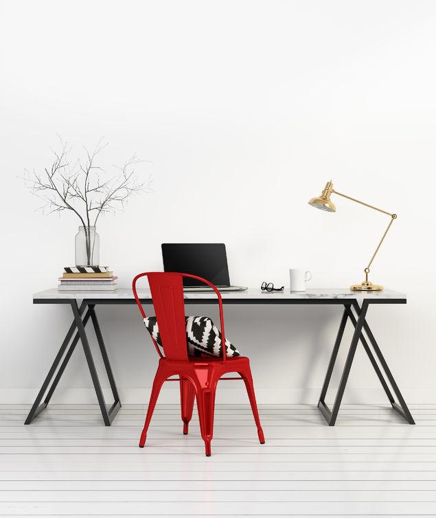 Zona studio minimalista ma chic