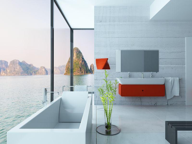 Bagno in rosso: design e stile