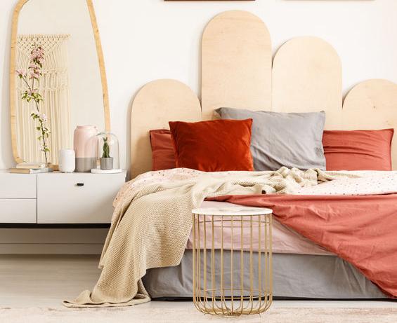 Camera da letto in rosso
