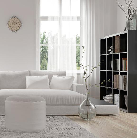 salotto bianco e nero moderno