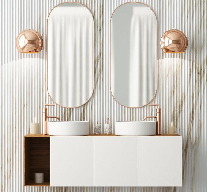 dettagli rame per il bagno