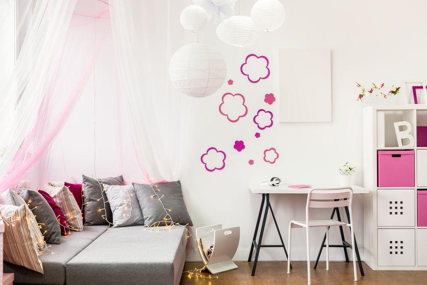 decorazioni rosa cameretta