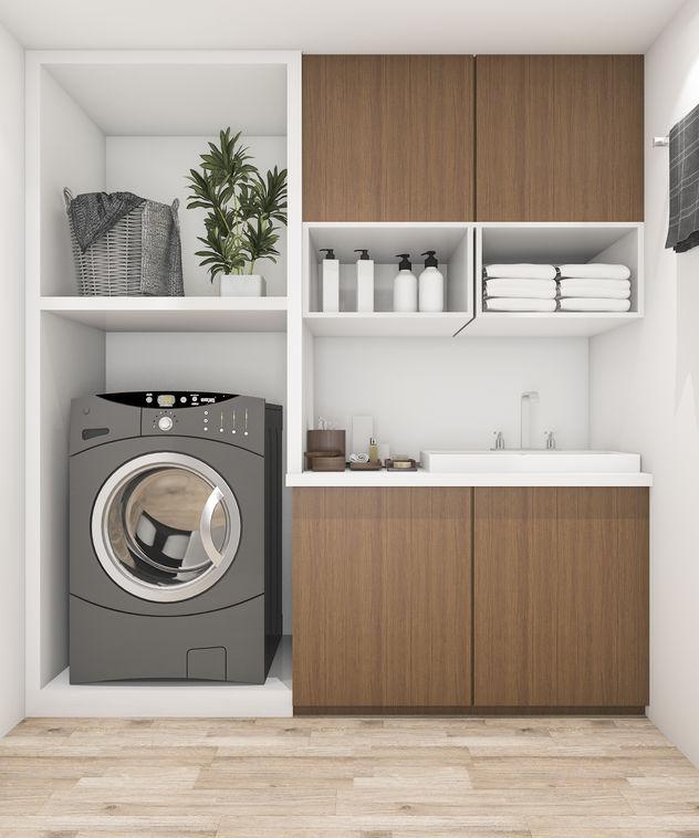 Lavasciuga nella lavanderia