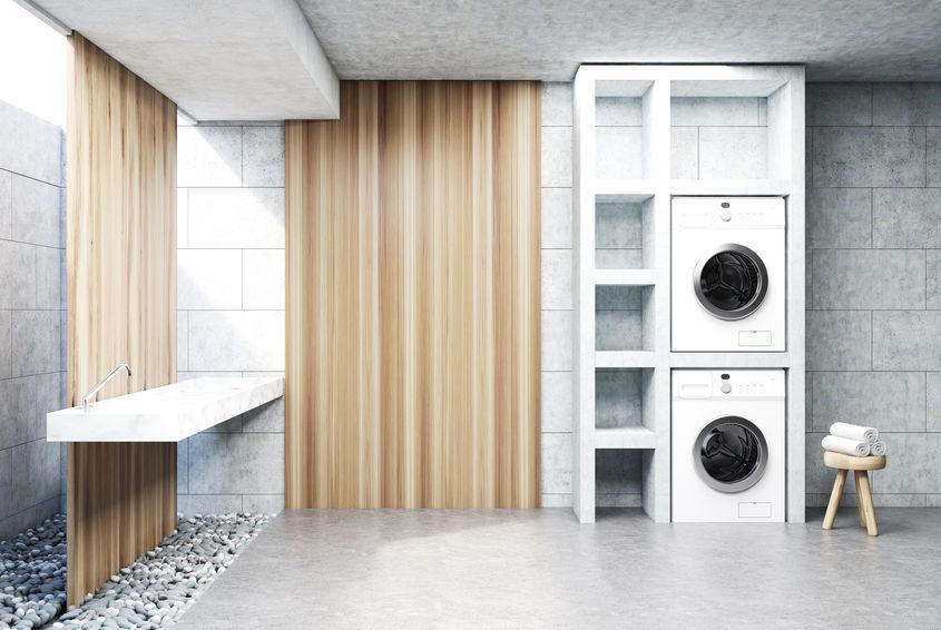Lavatrice e asciugatrice nella lavanderia