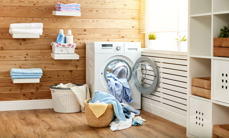 Mensole in lavanderia per appoggiare