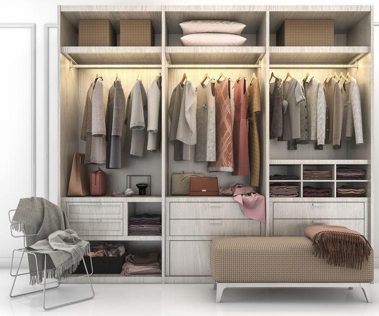 cabina armadio in legno
