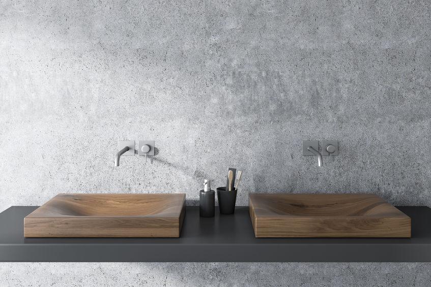 Lavabo in legno per il bagno