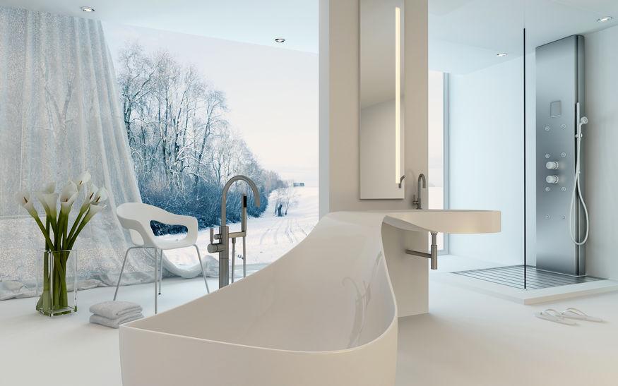 Vasca da bagno sagomata: forma dal design originale