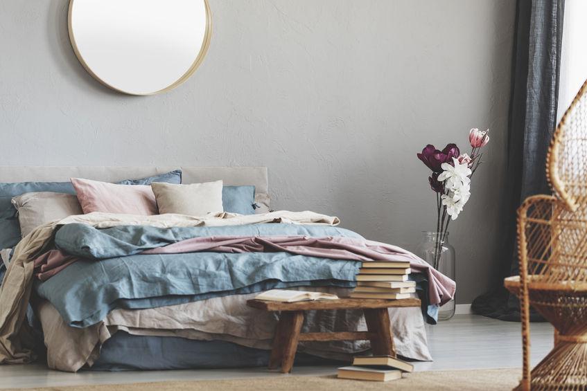 utilizzo colore rosa in camera da letto