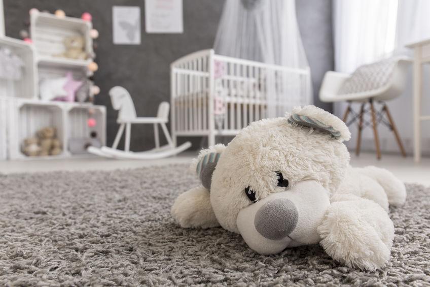 Cameretta per bambini: tappeti soffici e lavabili