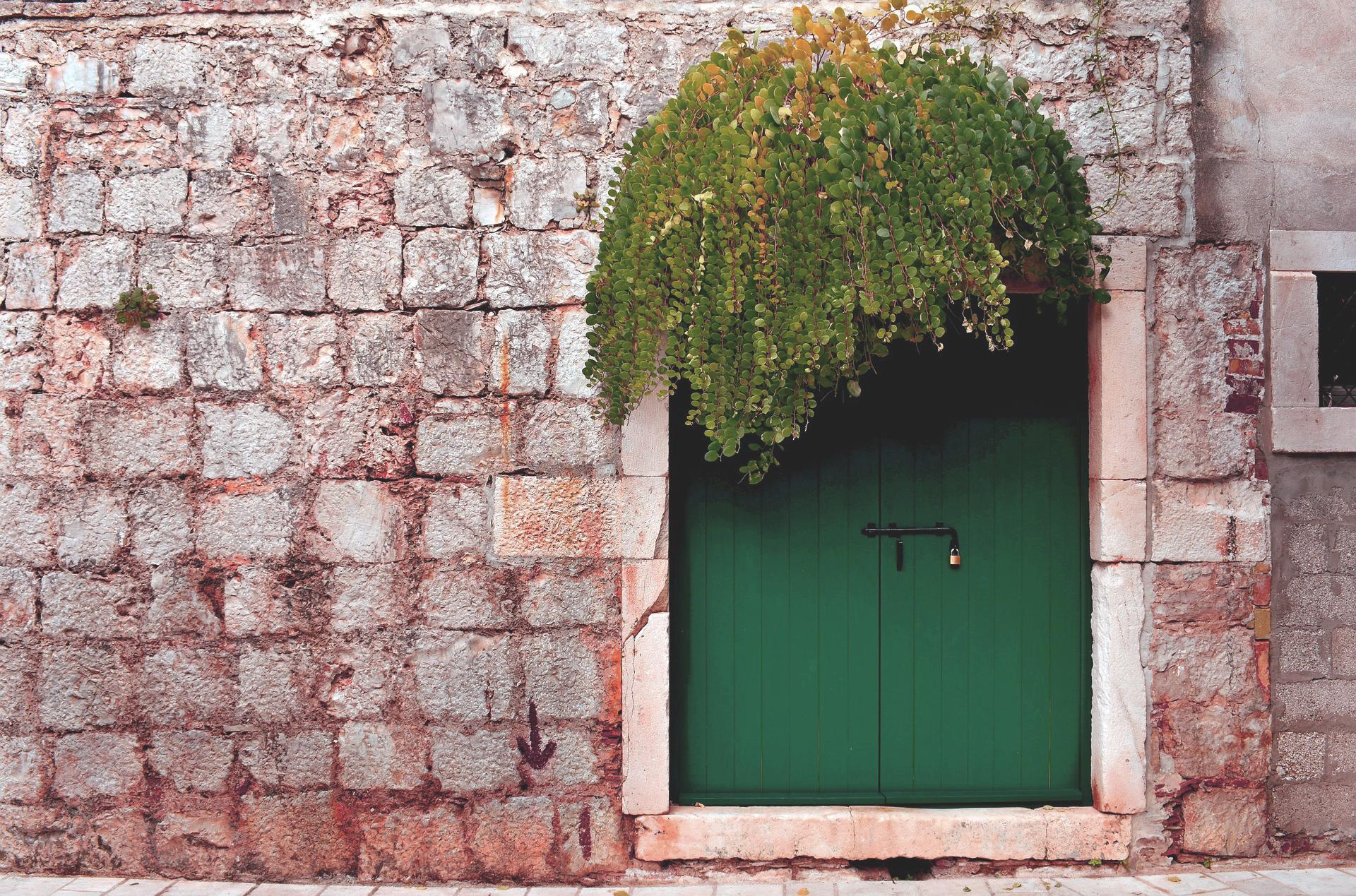 Colori: porta d'ingresso verde bosco