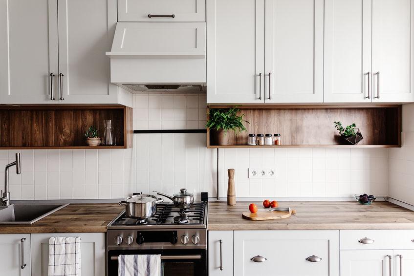 Cucina con forno a gas freestanding