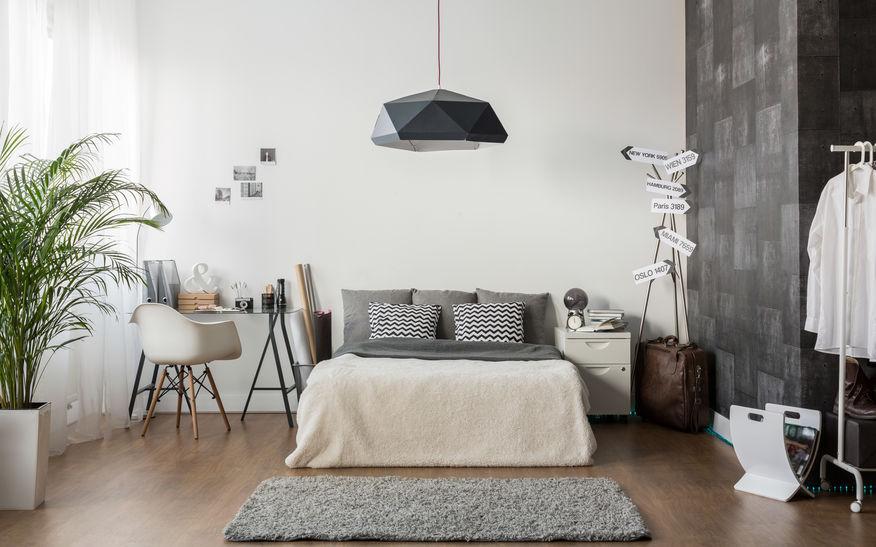 Camera da letto maschile: accessori e complementi
