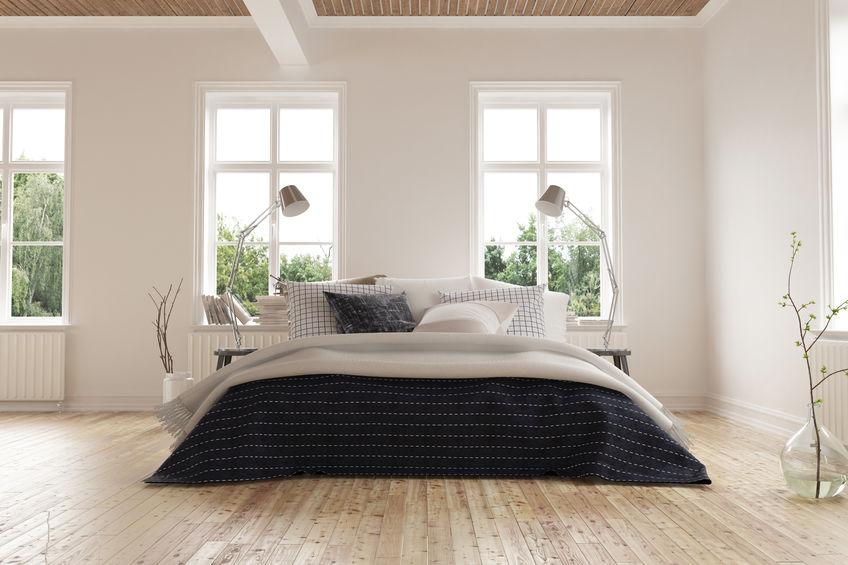 Camera da letto maschile: plaid, coperte e cuscini