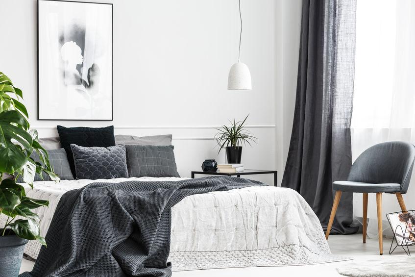 Camera da letto: dettagli tutti al maschile