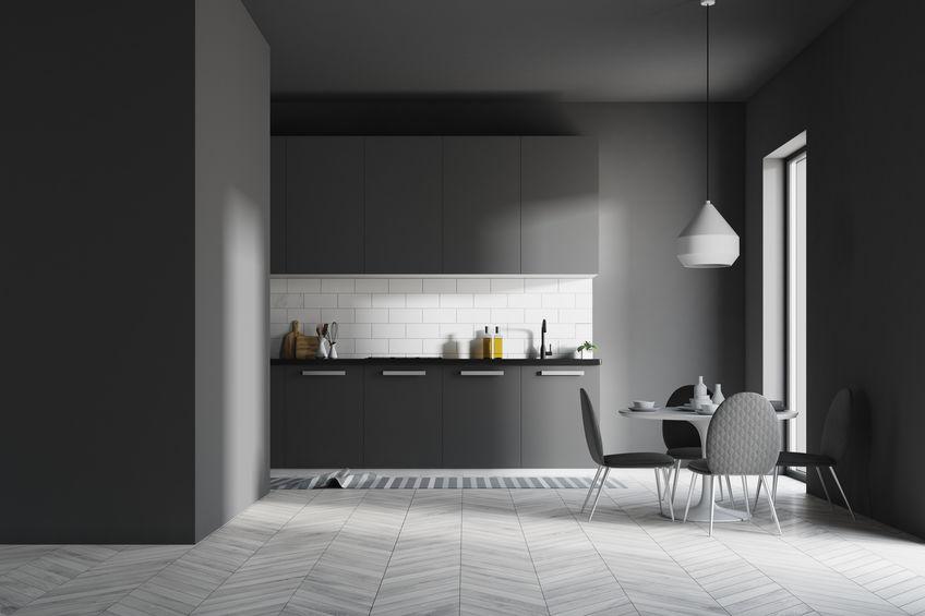 cucina nera moderna